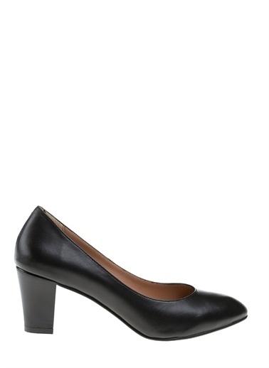 Divarese Divarese Kadın Deri Siyah Topuklu Ayakkabı Siyah
